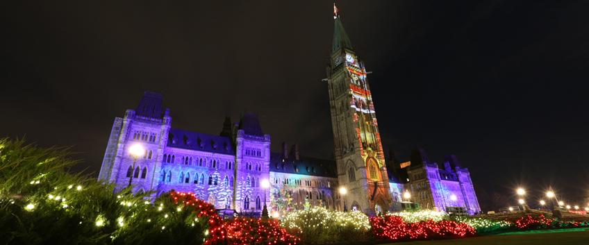 christmas lights across canada